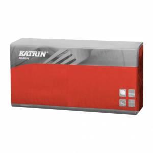 Servietter Katrin Fasana 40x40cm 3-lags rød - 4x250stk