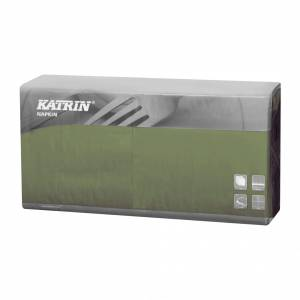 Servietter Katrin Fasana 40x40cm 3-lags grøn - 4x250stk