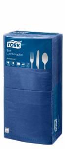 Servietter Tork Soft 3-lags 33x33cm Mørkeblå - 1500stk/kar