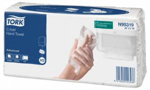 Papirhåndklæde Tork Advan H3 2-lags C-fold (471114) 2400st/ka