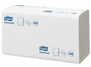 Papirhåndklæd Tork Univers H3 1-lag Z-fold 4500stk/ka (290158)