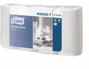 Køkkenrulle Tork Plus K1 2-lags 20,4m N32032 (473498) 20rul/pak