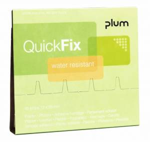 Plaster refills Plum QUICKFIX WATER RESISTANT - pk. á 45 stk