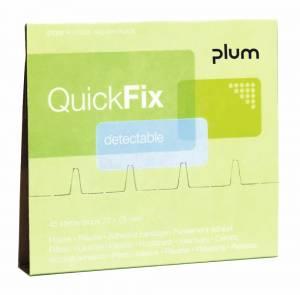 Plaster refills Plum QUICKFIX DETECTABLE - pk. á 45 stk