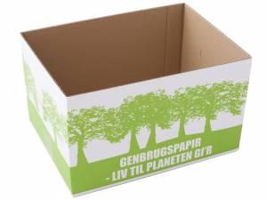 Miljøkasse t/genbrugspapir 340x250x200mm