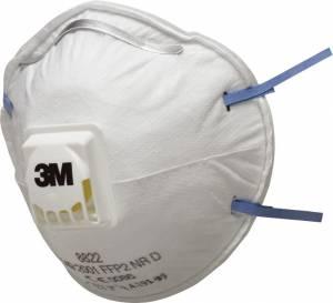 Støvmaske 3M P2 m/ventil 10stk/pak
