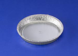 Foliebakke rund Alu Plus Pack  Ø195x25mm, 600ml - 100stk/pak