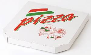 Pizzaæske 40x40x4cm TREVISO neutralt tryk - 100stk/pak