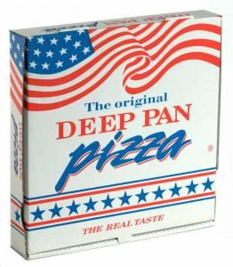 Pizzaæske 29x29x4,5cm Deep-pan - 100stk/pak