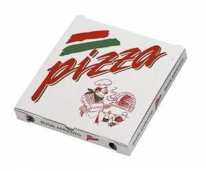 Pizzaæske 24x24x3cm neutralt tryk - 100stk/pak