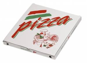 Pizzaæske 40x40x3cm neutralt tryk - 100stk/pak