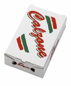 Pizzaæske 27x16,5x7,5cm CALZONE neutralt tryk - 100stk/pak