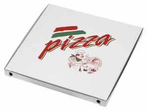 Pizzaæske 50x50x5cm neutralt tryk - 50stk/pak