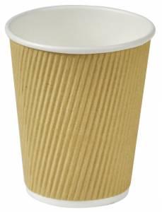 Kaffebæger Natur line Ripple wall pap 8oz (25cl) - 500stk