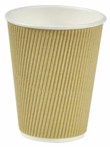 Kaffebæger Natur line Ripple wall pap 12oz (34cl) - 500stk