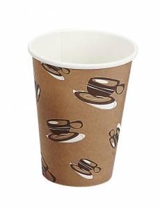 Kaffebæger Hot Cup Single wall pap brun 12oz (34cl) - 1000 stk