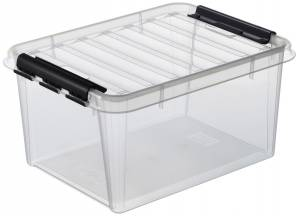 Plastikkasse Smart Store klar 15L m/låg L:40xB:30xH:19cm