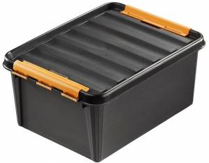 Plastikkasse Smart Store sort 31l robust L:50xB:39XH:26cm