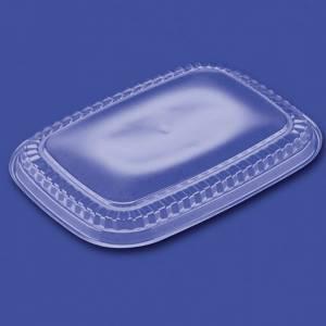 Låg t/ Plastbakke PS Plus Pack Visto 550ml, klar- 500stk/kar