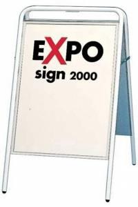 Gadeskilt Expo sign 3313 hvid 50x70cm