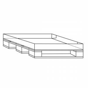 Engangspalle 1200x800x15mm m/påhæftet bølgepap bund 14