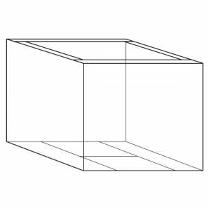 Containerunderdel 18 2 Bølger 1180x780x700/100mm