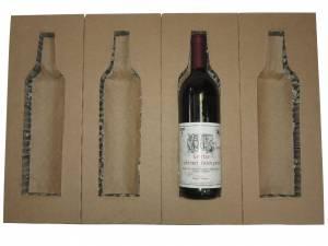 Vinemballage Universal 3/4l forsendelse/1 flaske top+bund