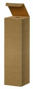Vinemballage brun åben bølge gaveæske til 1fl. 3/4L  - 20 stk