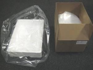 Plastikposer t/skumkasser klar 620/200x630x0,05mm 250stk/kar