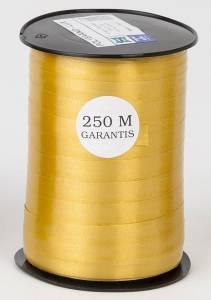 Gavebånd glat guld 10mmx250m nr. 06