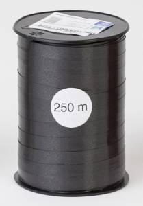 Gavebånd glat sort 10mmx250m nr. 23
