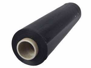 Strækfilm sort 25my håndrulle blæst udv.klæb - 450mmx300m