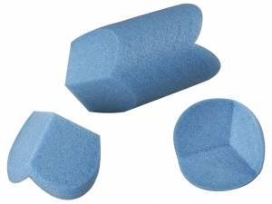 PE-profiler 10mm hjørne 100x100x100mm blå 1680stk/kar