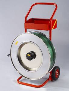 Båndvogn til plast og stålbånd m/406mm kerne rød - 13-19mm