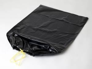Affaldssække LD Sort Luksus m/snoretræk B:700xL:1100mm - 10ps/rl.