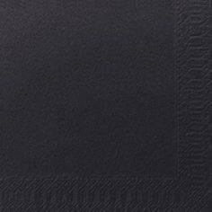 Servietter Duni Tissue 3-lags 24x24cm Sort - 2000stk/kar