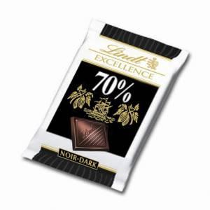 Chokolade Lindt Excellence Mini Mørk 5,5g - 200 stk
