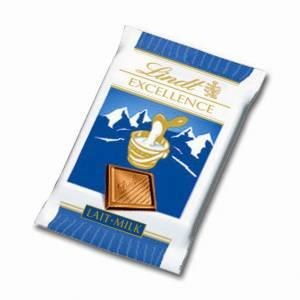 Chokolade Lindt Excellence Mini Mælk 5,5g - 200 stk