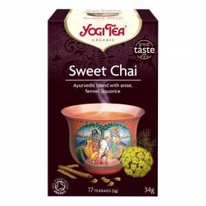 Te, Yogi Tea Sweet Chai Øko - 6 pk. á 17 breve