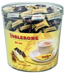 Toblerone chokolade minimix - 0,9 kg/bøtte