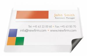Magnetlomme til mærkater 55x102mm m/etiketter