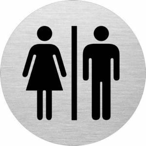 Skilt D & H toilet Ø:75mm aluminium