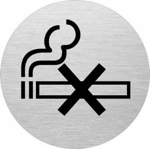 Skilt Rygning forbudt alu Ø75mm