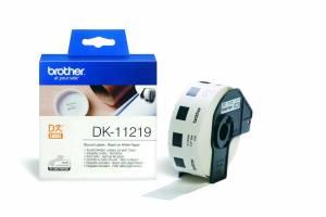 Label Brother hvid DK11219 Ø12mm 1200stk/rul