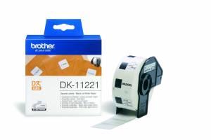 Label Brother hvid DK11221 23x23mm 1000stk/rul