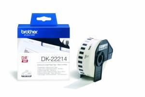 Label Brother hvid DK22214 30,48mx12mm papirtape