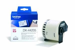 Brother DK-44205 endeløs bane, sort på hvid - 62mmx30,48m