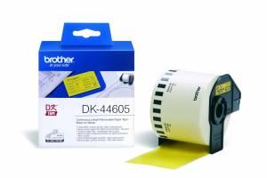Label Brother gul DK44605 30,48mx62mm aftagelig papir