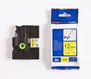 Brother TZe-FX631 Lamineret Flex tape 12mm x 8m - Sort på gul