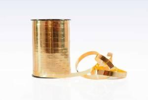 Gavebånd metallic guld 10mmx250m nr. 06